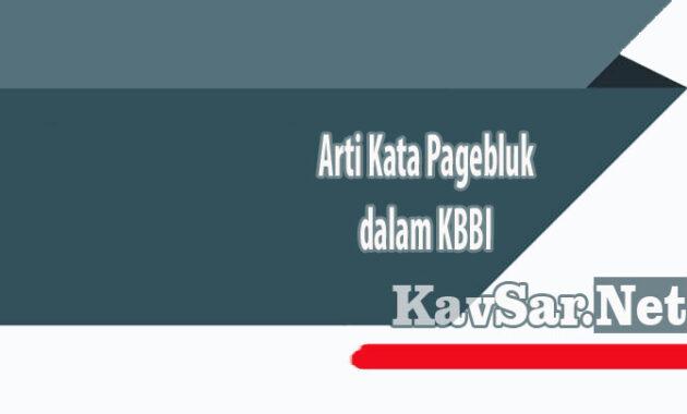Arti Kata Pagebluk dalam KBBI
